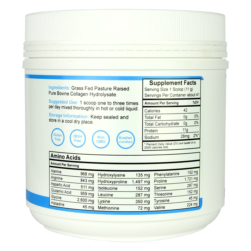 Forefront Health Collagen Protein right label