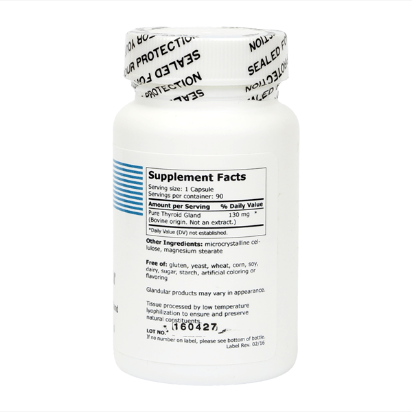 American Biologics Thyroid back label