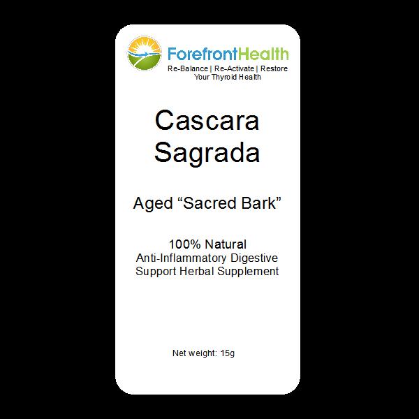 Cascara Sagrada Powder front label