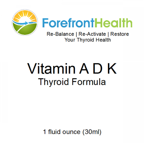 Vitamin A D K Thyroid Formula front label