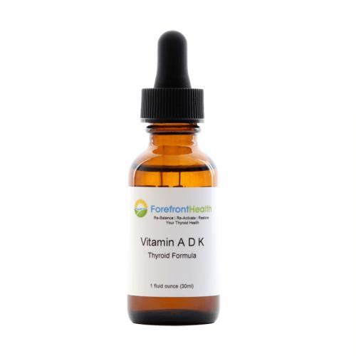 Forefront Health Vitamin ADK Thyroid Formula front label