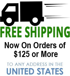 Free Shipping On Orders of $125 or More