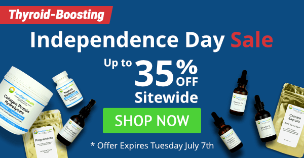 Thyroid-Boosting Independence Day Sale - Save Up to 35% Off Sitewide
